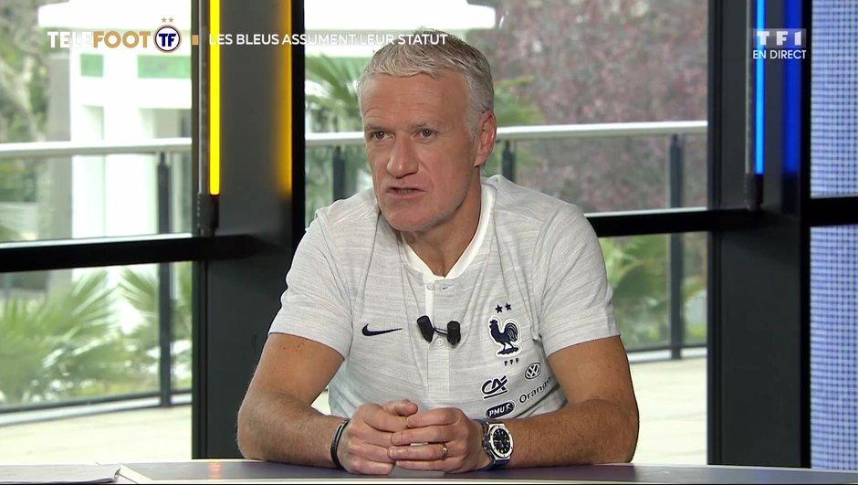 """[EXCLU Téléfoot 24/03] - Deschamps : """"Je retiens la joie et le bonheur qu'ont les joueurs au moment de se retrouver en équipe de France"""""""