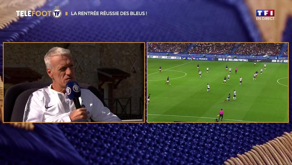 """Deschamps après France-Albanie (4-1) : """"Je retiens beaucoup de positif"""""""