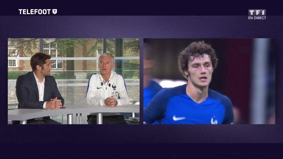 """[EXCLU Téléfoot 12/11] - Equipe de France / Deschamps revient sur la première de Pavard : """"J'ai été satisfait, il est sobre et efficace"""""""