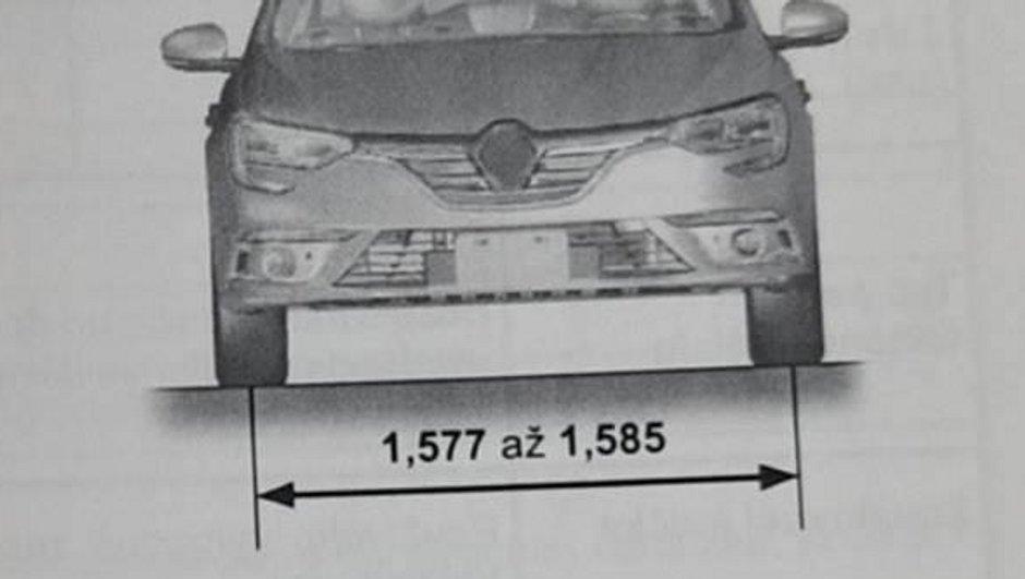 Scoop : Les dimensions de la future Renault Fluence dévoilées sur le net
