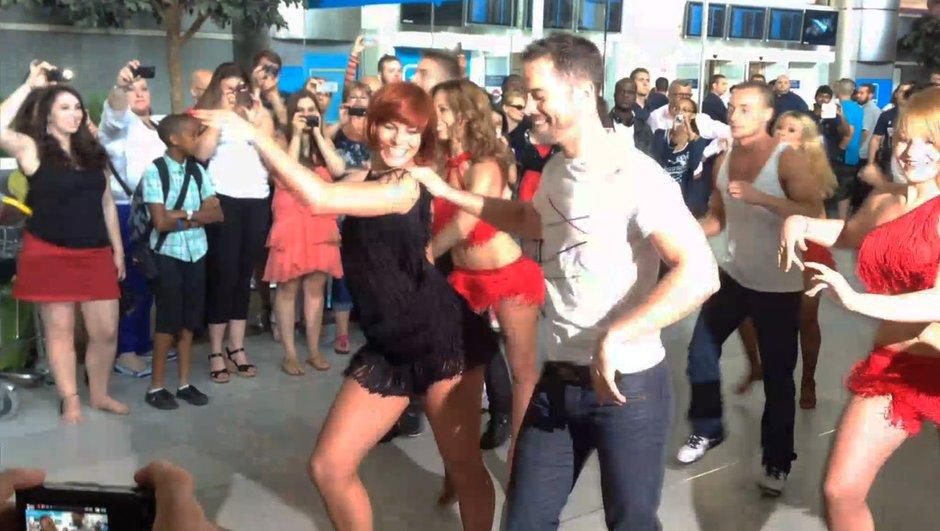 Danse avec Les Stars 4 : Emmanuel Moire et Fauve Hautot ambiancent l'aéroport de Roissy !