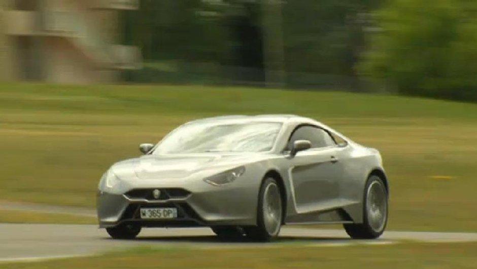 Vidéo : Exagon Motors Furtive e-GT de sortie à Magny-Cours