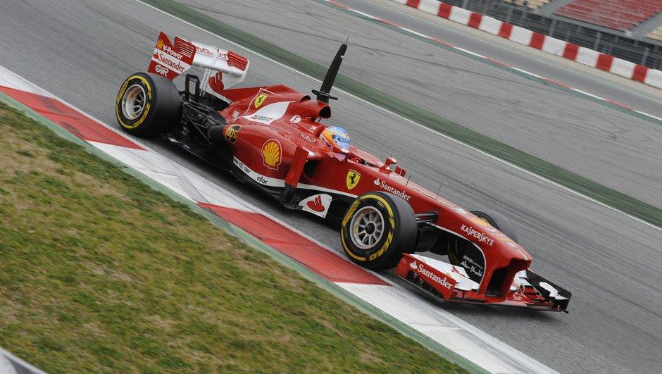 F1 - Essais Barcelone 2013 : Alonso hisse Ferrari en tête