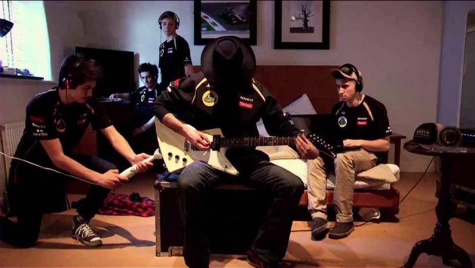 F1 : le teaser de la Lotus E20 en mode guitare