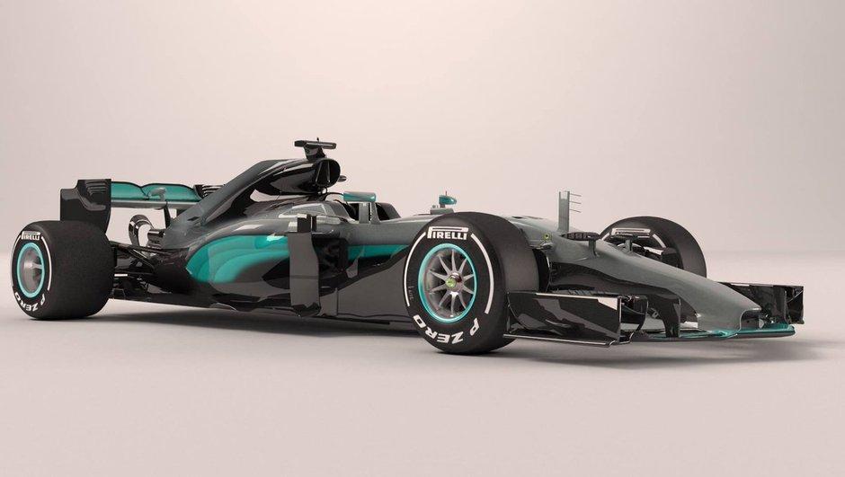 F1 2017 : A quoi ressemblera la Mercedes W08 ?