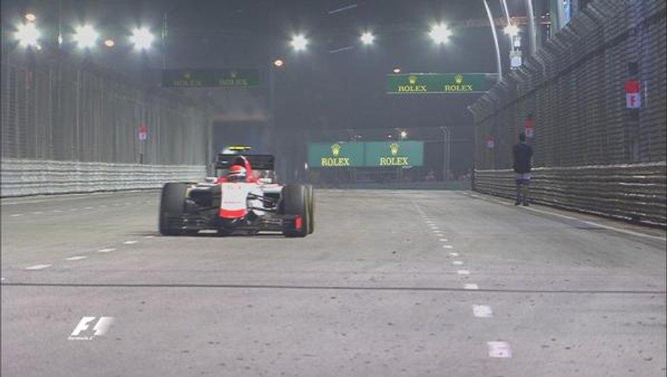 F1 : le spectateur entré sur la piste de Singapour risque la prison