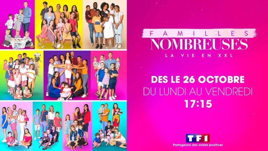 Familles nombreuses : La saison 2 inédite à découvrir le Lundi 26 octobre sur TF1