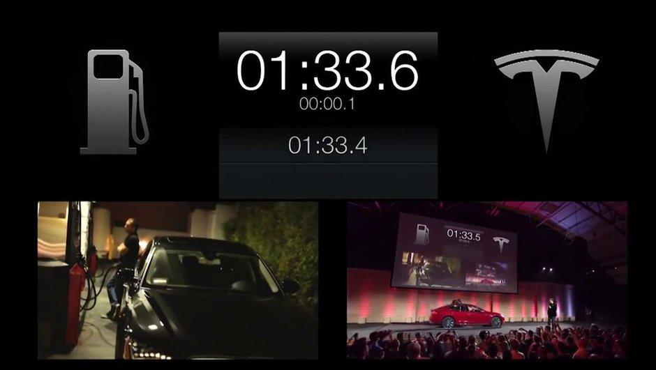 Vidéo - Tesla Motors : un échange de batteries en 95 secondes