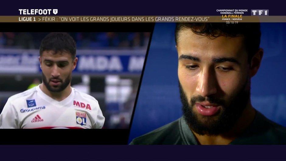 """[EXCLU Téléfoot 17/12] - Fekir parle de son avenir : """"Je suis Lyonnais et je me sens bien à l'OL"""""""