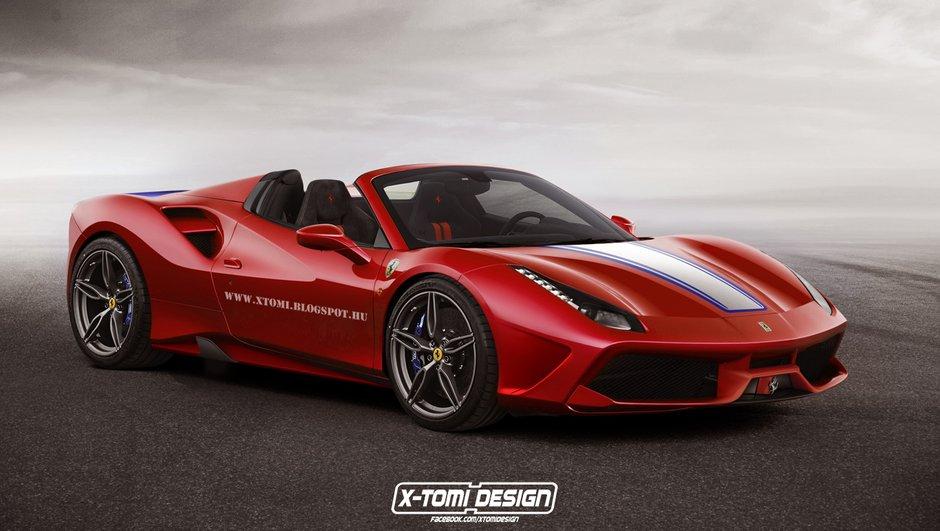 Un designer imagine la Ferrari 488 Spider Speciale