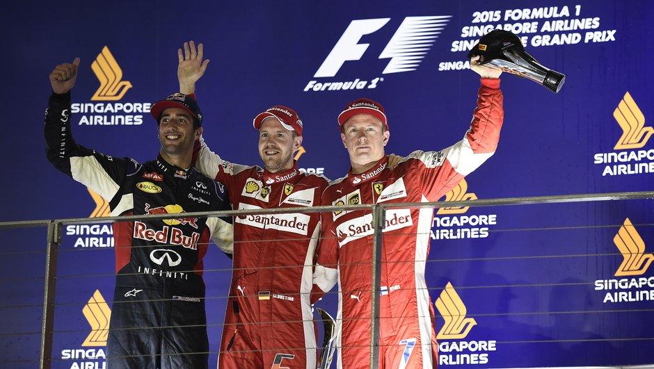 F1 – Singapour 2015 : Vettel triomphe, résultat blanc pour Hamilton