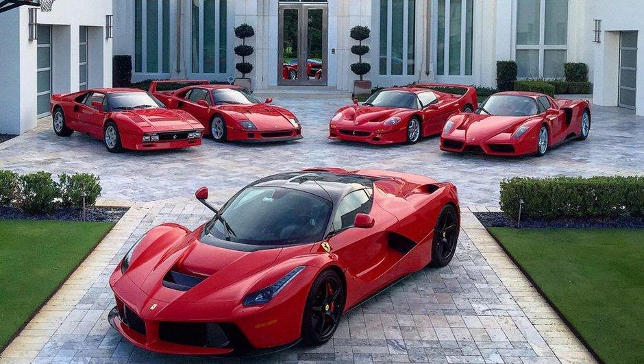 Insolite : il possède le quinté des supercars Ferrari