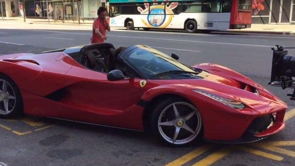 La Ferrari LaFerrari Aperta aperçue à Barcelone !