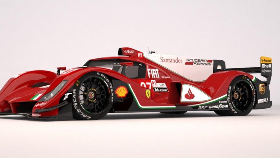 Un concept de Ferrari LMP1 dévoilé en 3D !