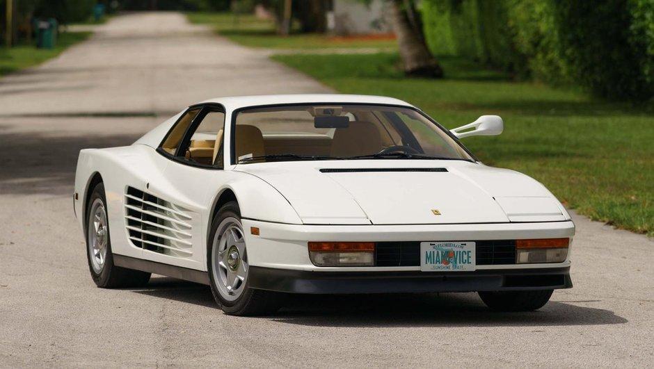 Une Ferrari Testarossa de Miami Vice aux enchères