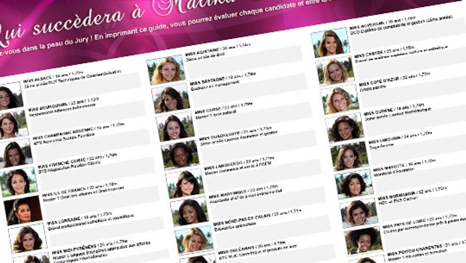 Imprimez la feuille du jury et votez pour Miss France 2011