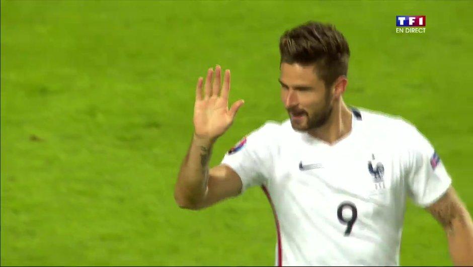 Danemark-France : Olivier Giroud et les Bleus éteignent le Danemark 2-1