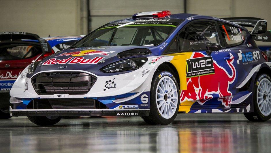 WRC : La Ford Fiesta d'Ogier présentée dans une livrée Red Bull