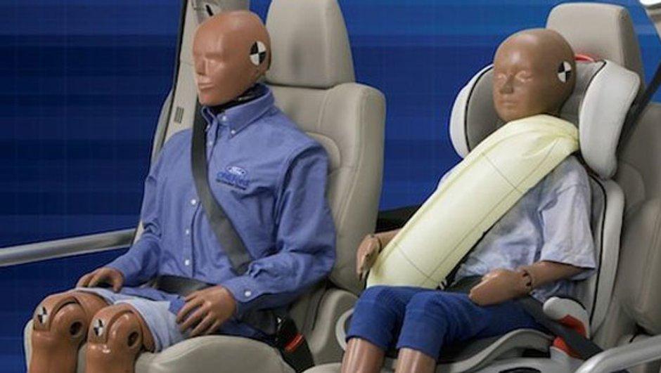 Ford crée la ceinture de sécurité gonflable
