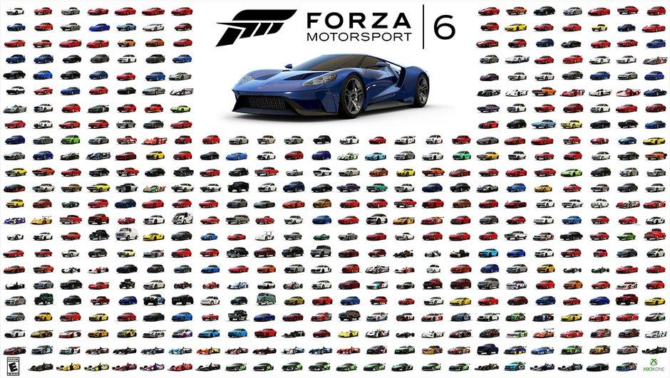 Forza Motorsport 6 : découvrez toutes les voitures du nouveau jeu