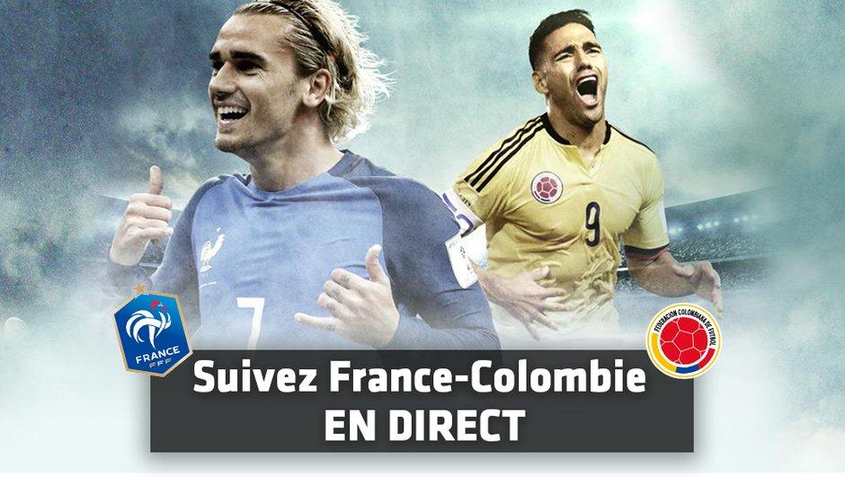France - Colombie : Suivez le match en direct minute par minute !