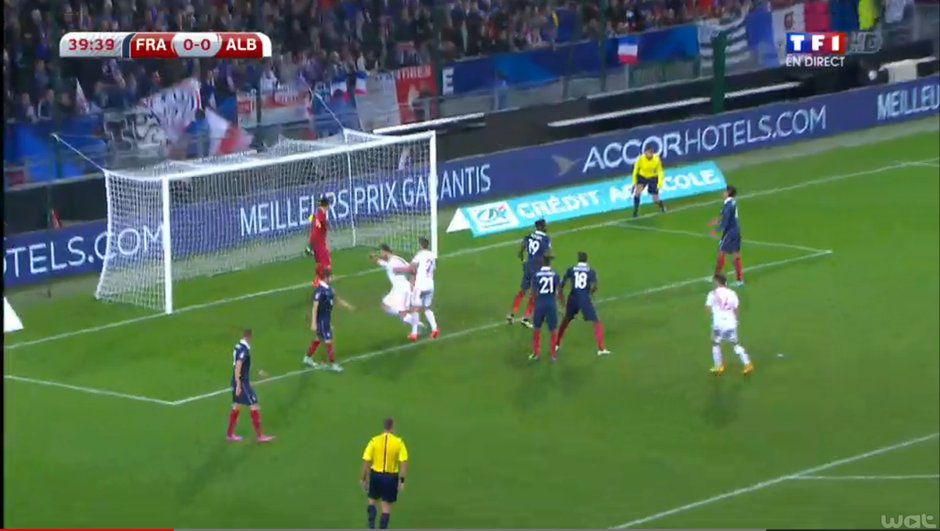 France-Albanie (0-1, 40ème) : Revoir le but de Mavraj en vidéo