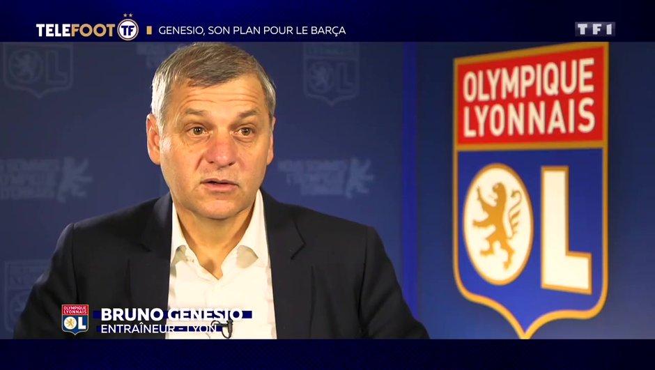"""[EXCLU Téléfoot 17/02] - Genesio : """"L'OL a les moyens de s'élever au niveau du Barça"""""""