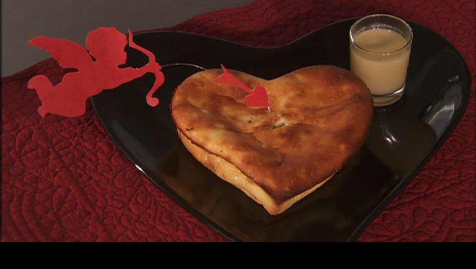 Coeur moelleux au gingembre et coulis pina gingembre