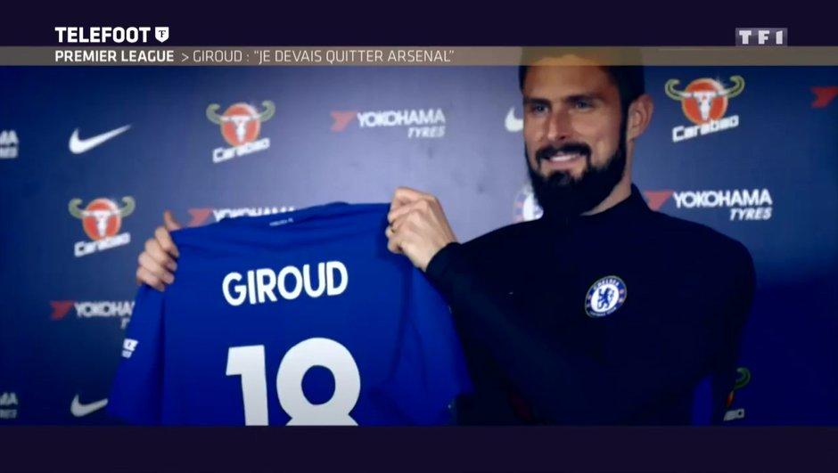"[EXCLU Téléfoot 4/02] - Mercato / Olivier Giroud : ""Je devais quitter Arsenal"""