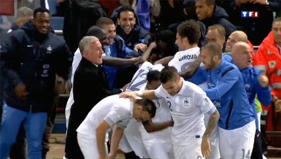 Espagne - France : but d'Olivier Giroud, 1-1 (93ème)