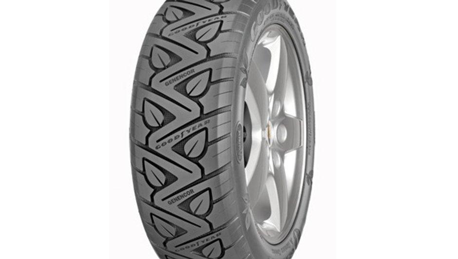Un pneu Goodyear en partie renouvelable