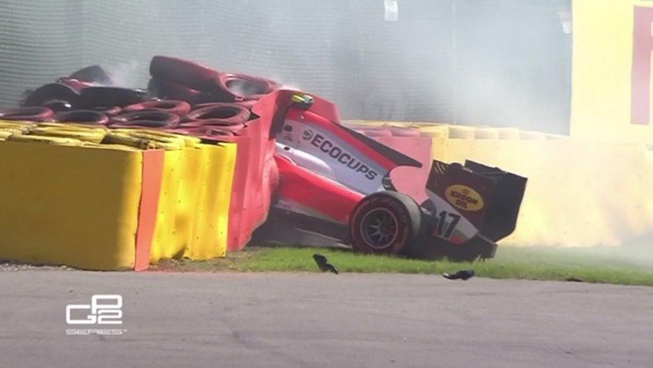GP2 : crash à haute vitesse pour De Jong à Spa