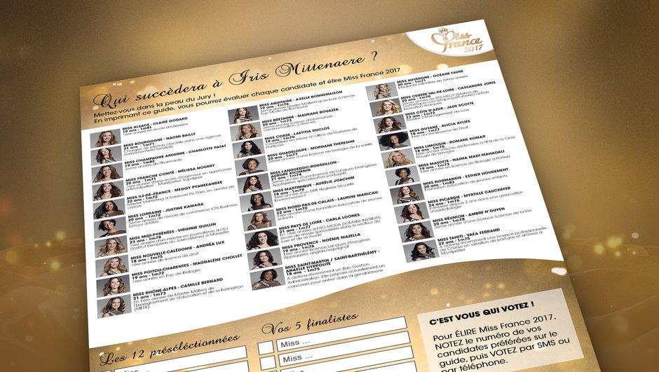 Téléchargez la grille des pronostics et votez pour votre Miss préférée !