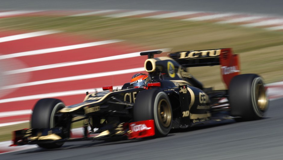 F1 - essais Barcelone 2012 : Grosjean de nouveau en tête vendredi