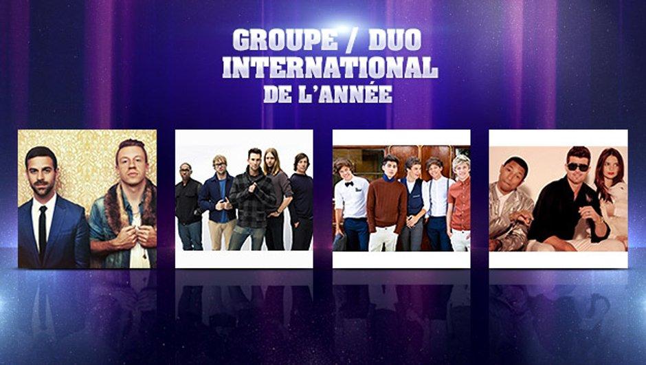 NRJ Music Awards : ils veulent devenir le Groupe / Duo International de l'année !