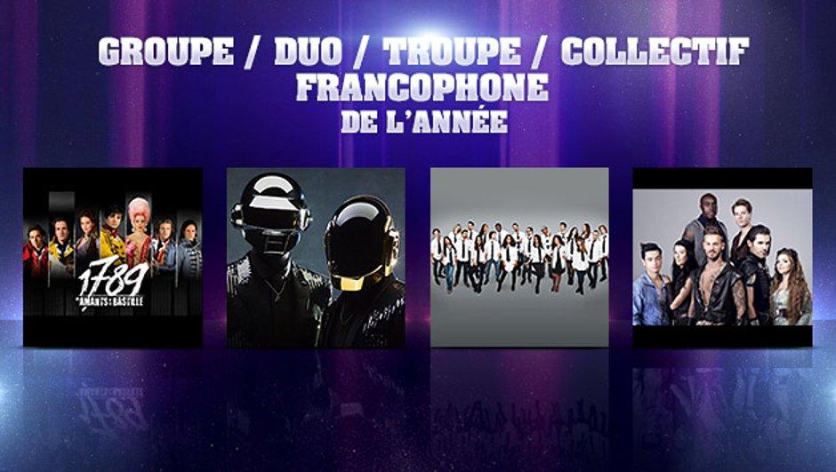 NRJ Music Awards : qui sera le Groupe / Duo / Troupe / Collectif francophone de l'année ?