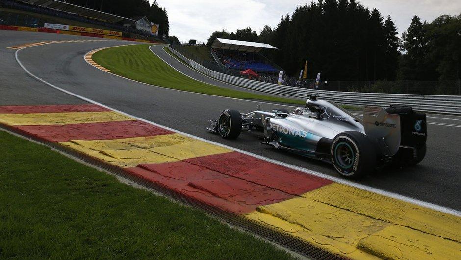F1 - Essais 2 GP de Belgique 2014 : Lewis Hamilton dépose Nico Rosberg