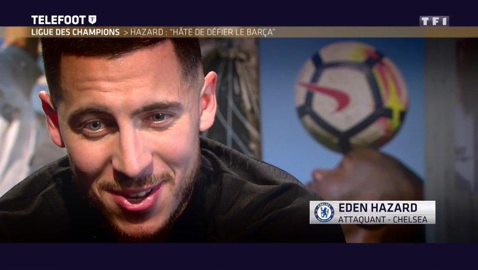 """[EXCLU Téléfoot 18/02] - Eden Hazard évoque son avenir et le Real Madrid : """"Je suis bien où je suis"""""""