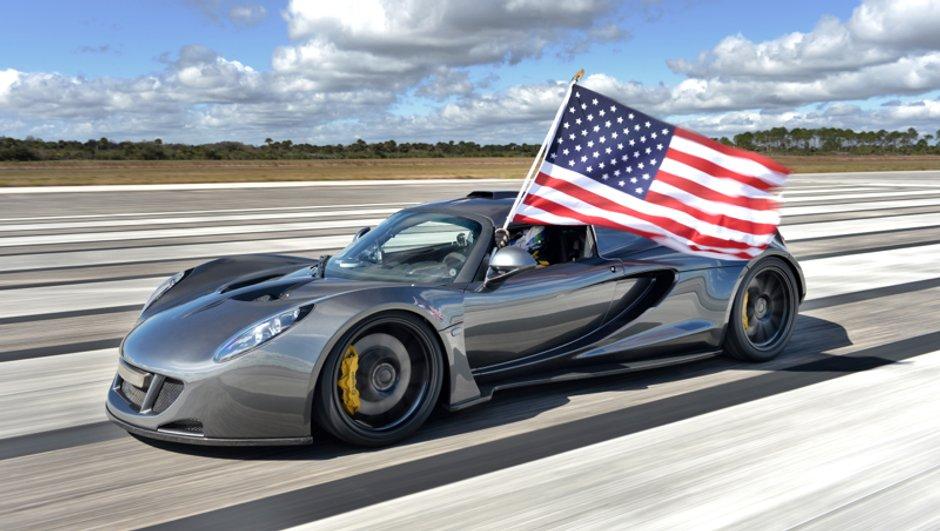 Hennessey Venom GT : 435 km/h pour le supercar américain, mais pas de record