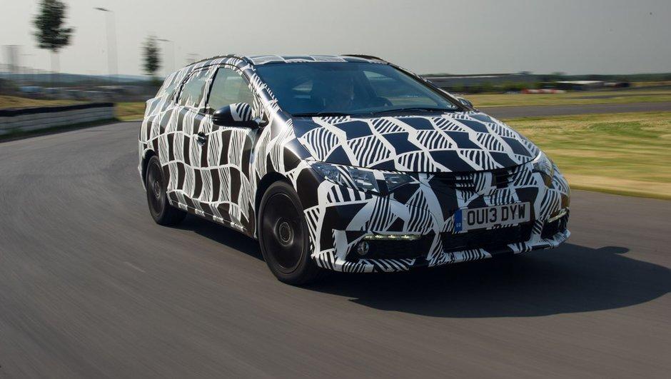 Honda Civic Tourer 2014 : premières photos officielles, avec camouflage