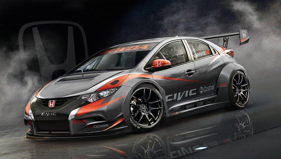 WTCC 2014 : première image de la nouvelle Honda Civic