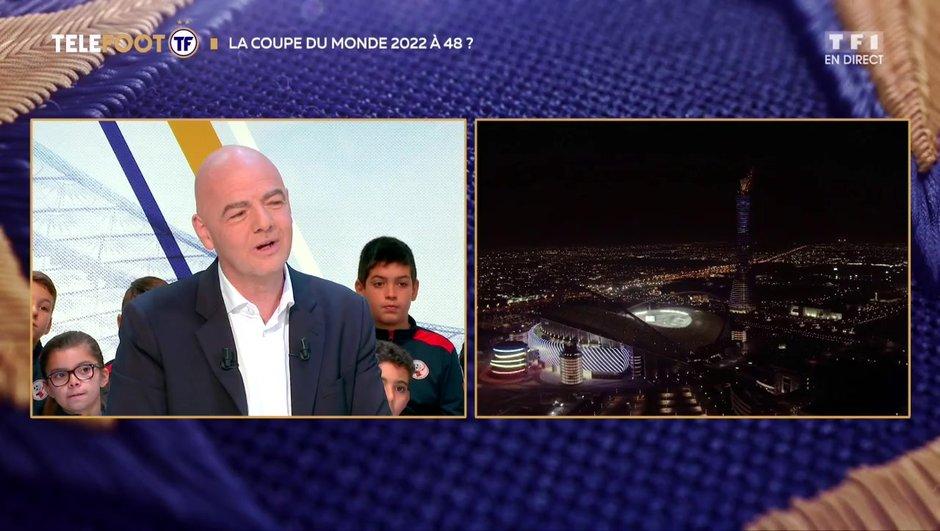 """[EXCLU Téléfoot – 9/12] - Infantino sur la Coupe du monde à 48 en 2022 : """"C'est une possibilité"""""""