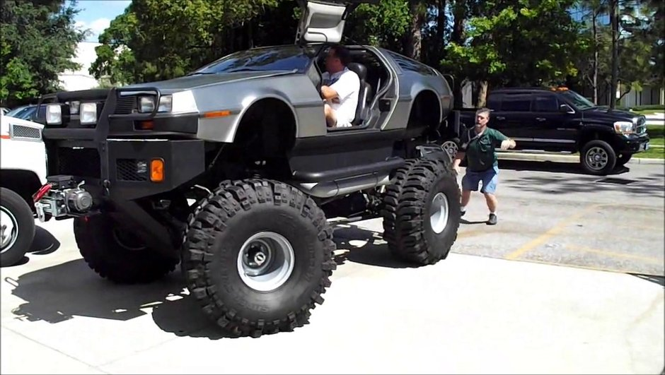 Vidéo insolite : une DeLorean en mode Monster Truck !