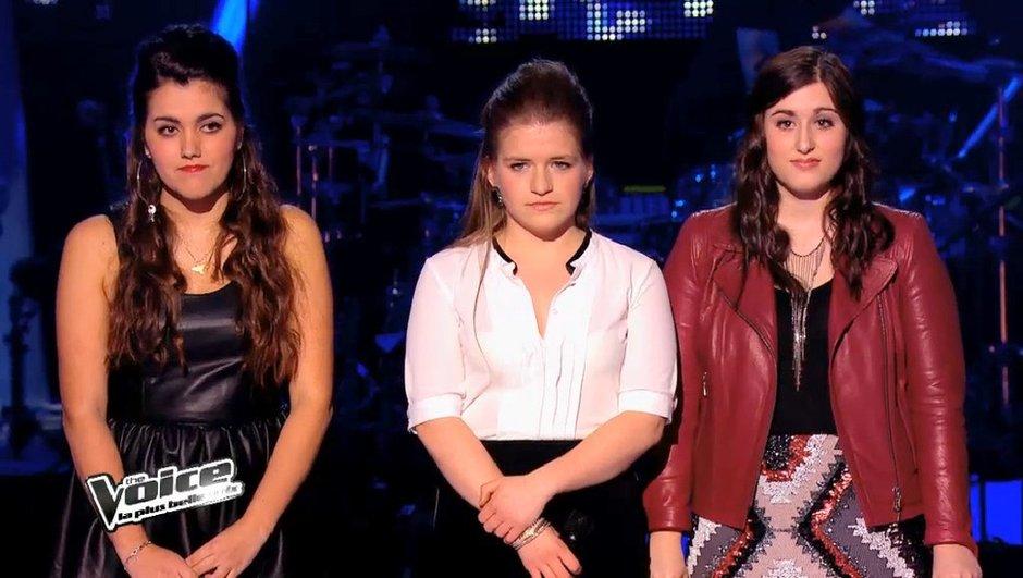 The Voice 3 : Marina d'Amico et Caroline Savoie rient, Jacynthe pleure
