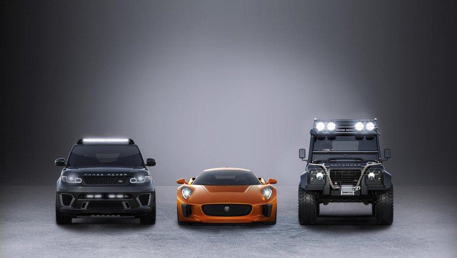 """Jaguar Land Rover présente ses véhicules pour James Bond """"Spectre"""""""
