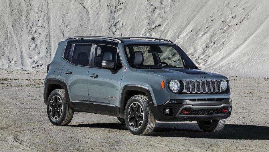 Salon de Genève 2014 : le Jeep Renegade en avance avec sa bonne bouille de 4x4