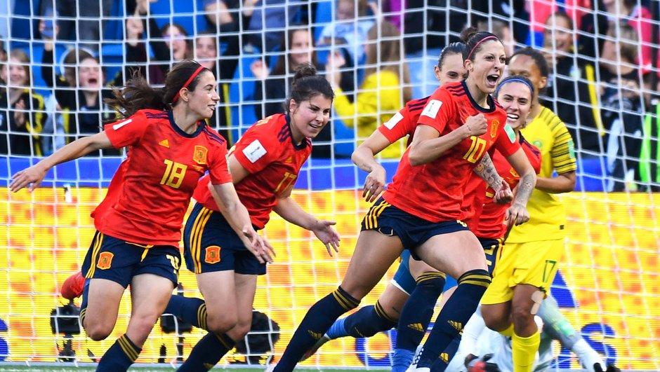 Espagne-Afrique du Sud (2-1) : Les deux buts d'Hermoso sur penalty en vidéo