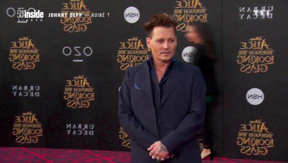 Johnny Depp dans la panade, il serait complètement ruiné