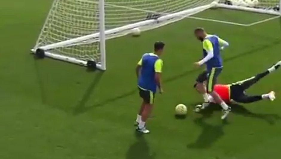 Vidéo : Karim Benzema régale à l'entraînement