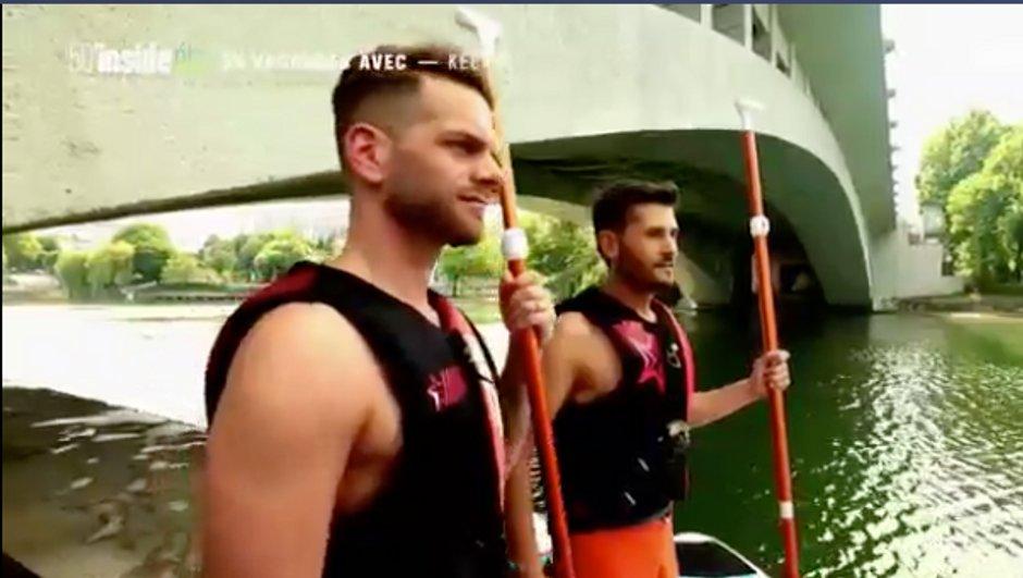 Le chanteur Keen'v teste le paddle pour la première fois